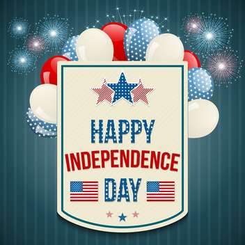 american independence day background - vector gratuit #134040