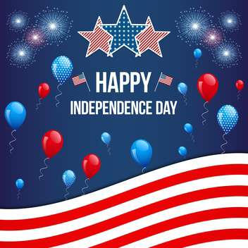 american independence day background - vector gratuit #134050