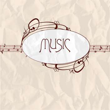 vintage music label background - vector #134070 gratis
