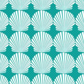 blue seashell pattern background - vector #134100 gratis