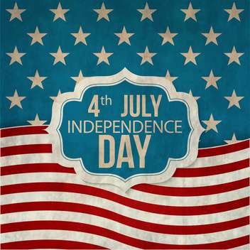 poster for usa independence day celebration - vector #134120 gratis