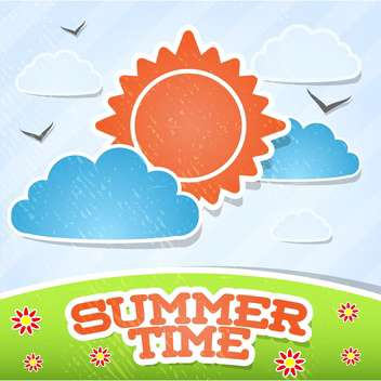 summer time card vacation background - Free vector #134180