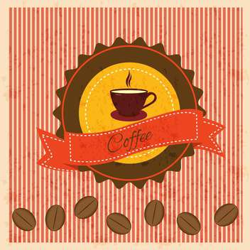 vintage background with coffee elements - vector gratuit #134240