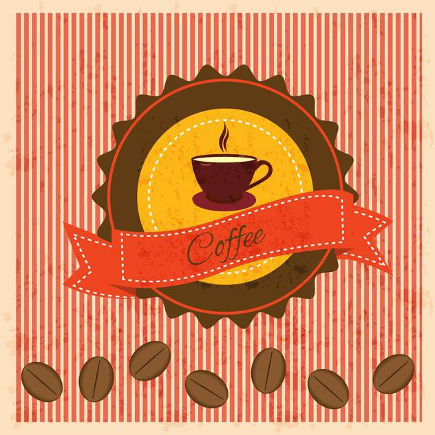 vintage background with coffee elements - бесплатный vector #134240