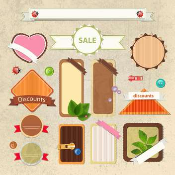 vintage shopping sale signs - бесплатный vector #134250