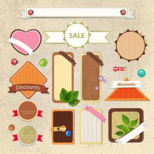 vintage shopping sale signs - Free vector #134250