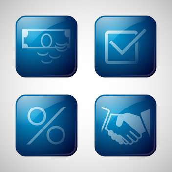 abstract business icon set - vector gratuit #134260