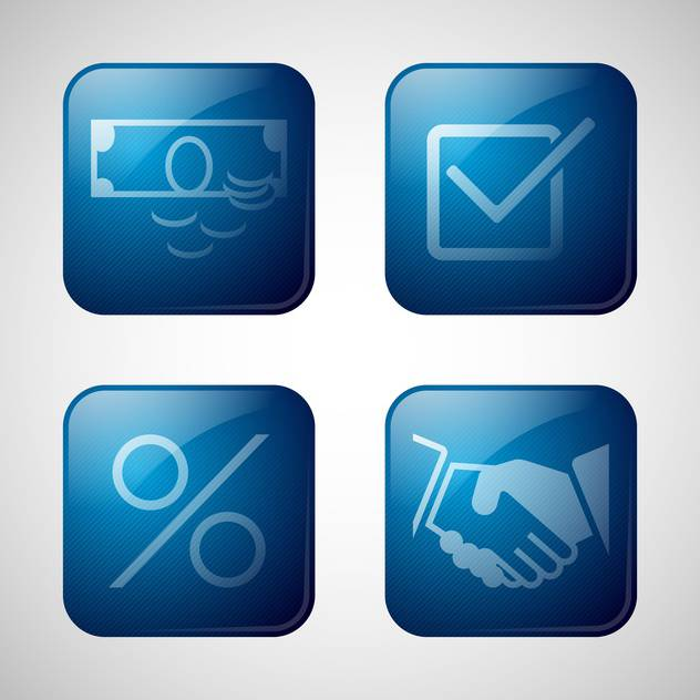abstract business icon set - Free vector #134260