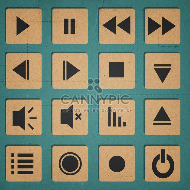 Media Player-Symbole-set - Kostenloses vector #134310