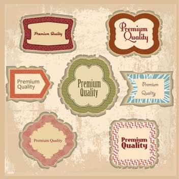 premium quality labels set - vector gratuit #134400