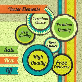 sale shopping signs labels set - vector gratuit #134420