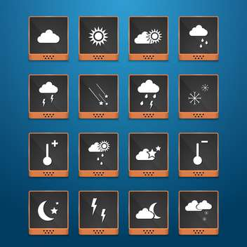 weather web icons set background - Free vector #134440