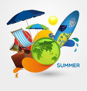 summer holidays items vacation background - vector gratuit #134540