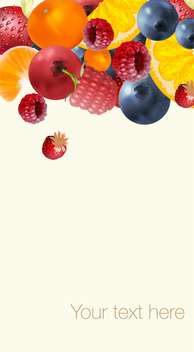 ripe summer tasty berries background - бесплатный vector #134550