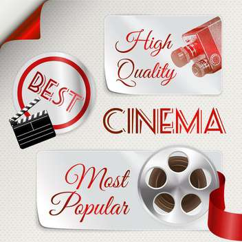 abstract cinema icons set - Free vector #134580