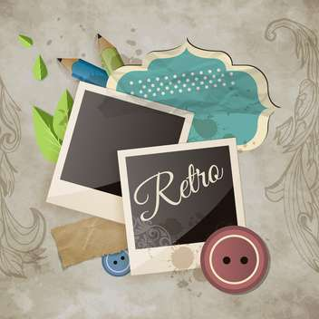 vintage scrapbook template background - vector gratuit #134600