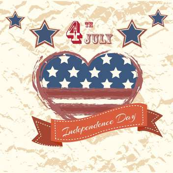 vintage vector independence day poster - vector #134660 gratis
