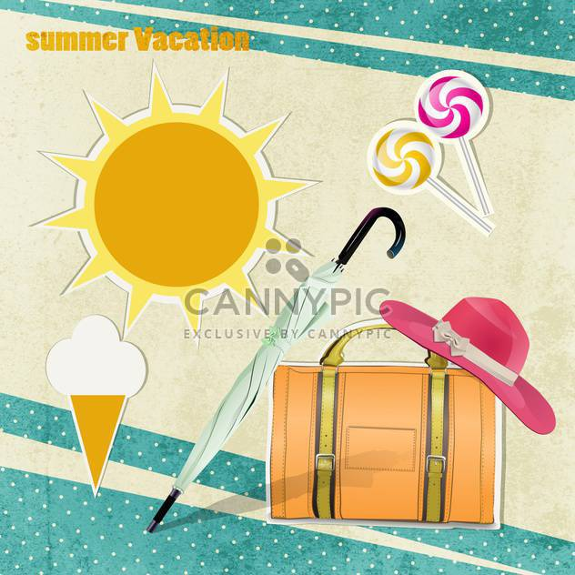 summer vacation holiday background - Free vector #134670