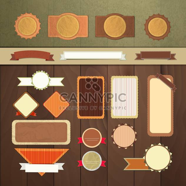 art set of vector frame lable - Free vector #134680