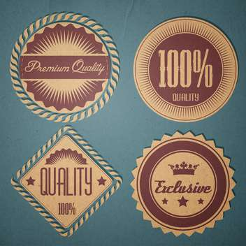 retro guarantee quality labels set - бесплатный vector #134750