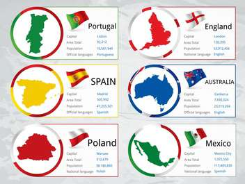 world countries flags set - vector gratuit #134760
