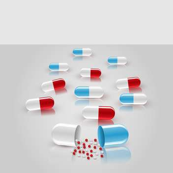 vector pharmaceutical background with pills - Free vector #134780