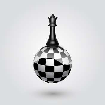 black king chessman on abstract sphere vector illustration - vector gratuit #134790