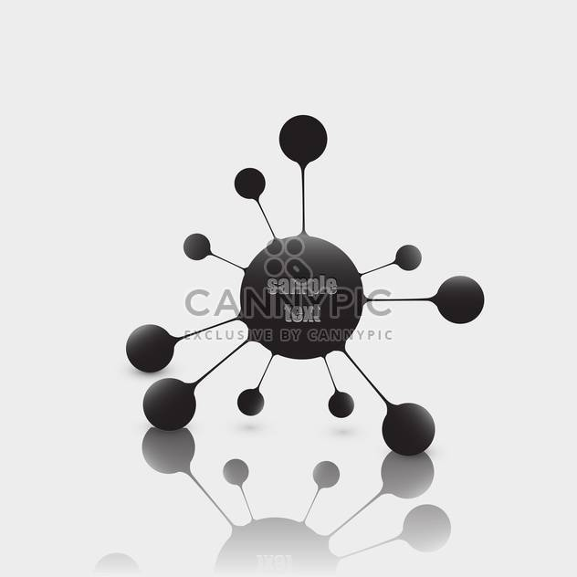 abstract vector molecule background - Free vector #134880