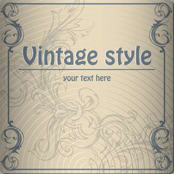 vector vintage abstract background - vector #134910 gratis