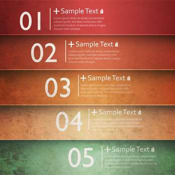 colorful number option banners - vector gratuit #134960