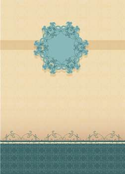 vintage floral frame background - vector gratuit #134970