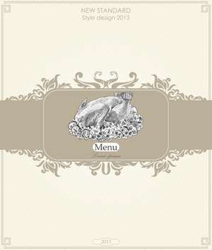 vintage menu for restaurant and cafe - vector #135000 gratis