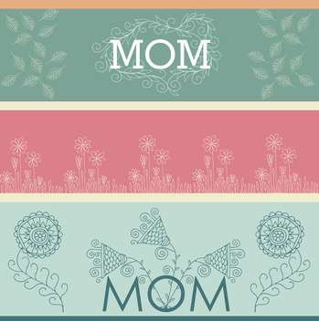 mother's day greeting banners with spring flowers - бесплатный vector #135040
