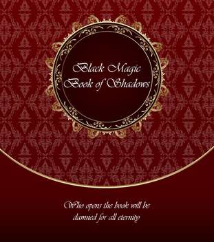 vintage background with gold and red template - vector #135070 gratis