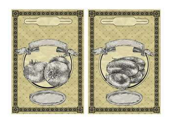 vintage banners with tomato and eggplant - vector gratuit #135080