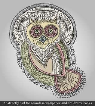 vector illustration of owl animal bird - бесплатный vector #135090