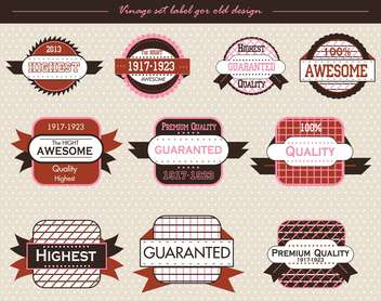vintage vector labels and badges background - vector gratuit #135140
