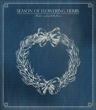 season of flowering herbs vector illustration - Free vector #135230